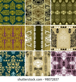 RASTER seamless Cambodian floral pattern