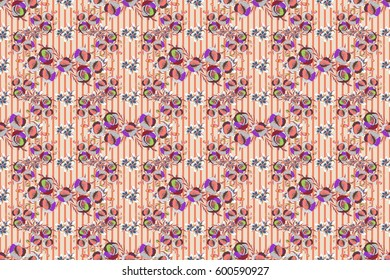 Raster seamless pattern with poppy flowers and leaves on a beige background. Floral background with watercolor effect. Textile print for bed linen, jacket, package design, fabric and fashion concepts.