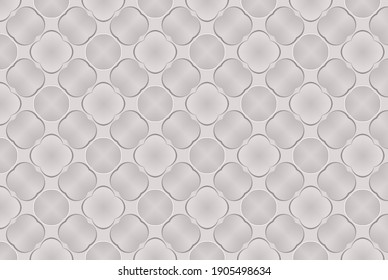 Raster seamless pattern, repeating abstract figures.