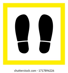 Raster stand here flat icon. Raster pictogram style is a flat symbol stand here icon on a white background.