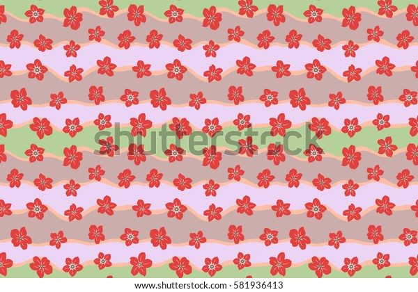 Raster textile print for bed linen, jacket, package design, fabric and fashion concepts. Seamless pattern with pink flowers. Floral watercolor seamless background.