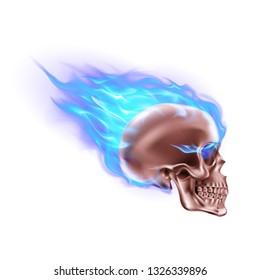 Blue Flaming Skull Images Stock Photos Vectors Shutterstock