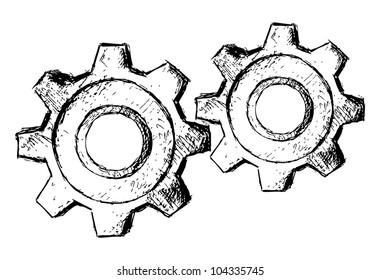 Raster version. Gears