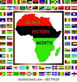raster version illustration showing african black stock illustration