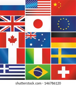 Raster version of most popular vector flags illustration.Vector file is also available in my portfolio