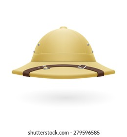 Raster version. Pith helmet isolated on a white background