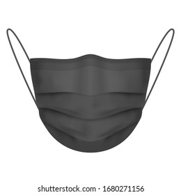 Raster version. Safety Breathing Mask. Industrial Safety Mask, Dust Protection Respirator and Breathing Medical Respiratory Mask. Realistic Illustration on White Background