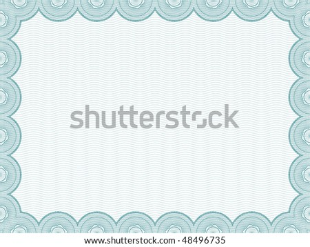 Raster Version Secure Blank Certificate Template Stock Illustration ...