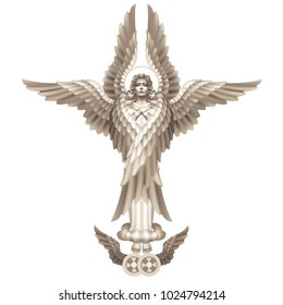 Raster version / Seraphim - the highest angelic rank, on a white background