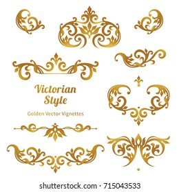 Raster version. Set of vintage ornaments in Victorian style. Ornate element for design and place for text. Ornamental lace patterns for wedding invitations and greeting cards.