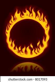 Raster version of vector fiery ring