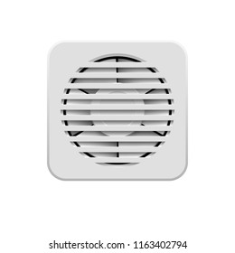 Raster version. Wall Electric Extractor Plastic Air Fan for Bathroom on White