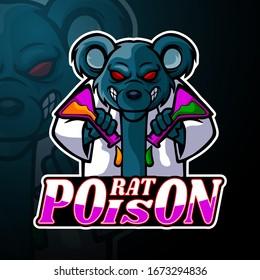 Rat esport logo mascot design