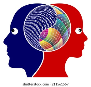Rationality or Creativity. The right brain and the left brain got different function, either logical or creative thinking