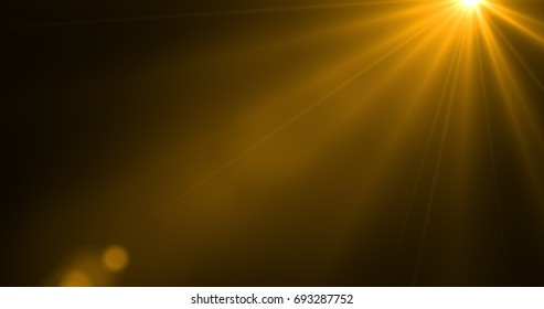 Rays light isolated on black abstract background for overlay design or screen blending