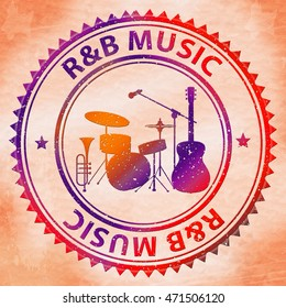 R&B Music Meaning Rhythm And Blues Soul