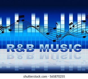 R&B Music Symbols Meaning Rhythm And Blues Soundtracks