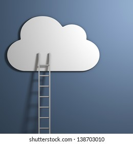 Reaching for the clouds - Abstract Business Concept Illustration