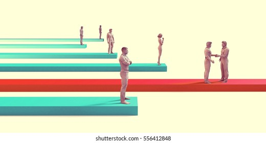 Reaching Your Goals and Personal Target with Success 3D Illustration Render