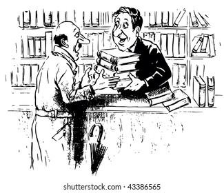 Reader in the bookshop