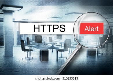reading the word https browser search 3D Illustration