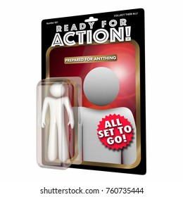 Ready for Action Figure Prepared for Anything 3d Illustration