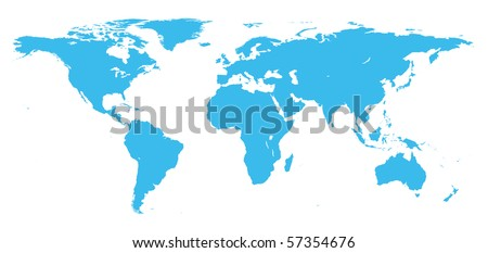 Royalty Free Stock Illustration of Real Detail World Map Continents ...