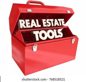 Real Estate Tools Agency Toolbox Agent Tips Advice 3d Illustration