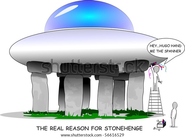 Real Meaning Stonehenge Depicting Aliens Using Stock