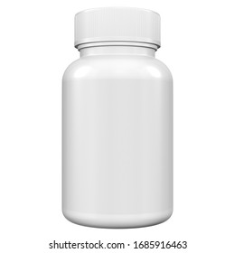 Realistic 3D Bottle Mock Up Template on White Background.3D Rendering