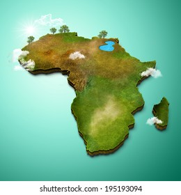 Africa 3d Map Stock Illustrations, Images & Vectors | Shutterstock