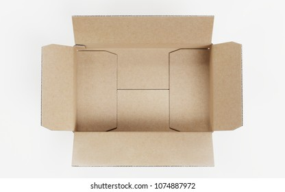 Realistic 3D Render of Carboard Box