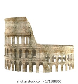 realistic 3d render of Colosseum
