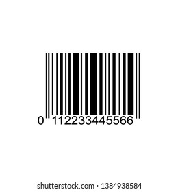 Realistic bar code icon. A modern simple flat barcode. Marketing, the concept of the Internet. Fashionable sign of a market trademark for website design, mobile application. Bar code logo