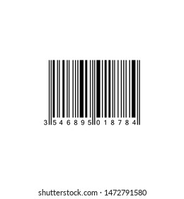 Realistic Barcode icon isolated. Black barcode icon. illustration