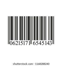 Realistic Barcode icon isolated on white background.  Illustration