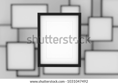 Realistic Blank Picture Frame Insert Text Stock Illustration ...