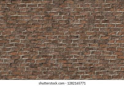 realistic brick wall 3d illustration 40x29cm 300dpi
