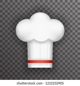 Realistic Chief Cook Symbol Toque Cuisine Food Icon Transperent Background Mock Up Design Template  Illustration