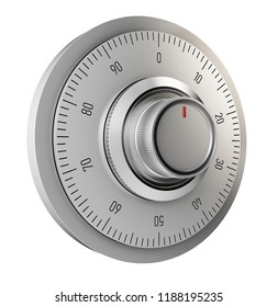 Realistic combination safe lock. Isolated on white background. 3d Illustration