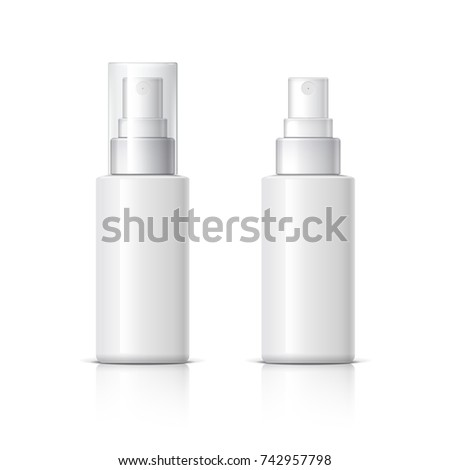 Realistic Cosmetic Bottle Can Sprayer Container Dispenser For Cream Soups And Other Cosmetics