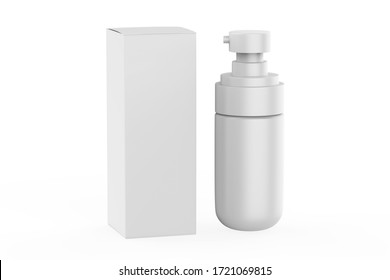 realistic cosmetic bottle with dispenser. Beauty skin care product container. 3d illustration