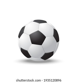 Realistic Detailed 3d Soccer Ball Play Football Sport Game Goal Competition Win Concept. illustration