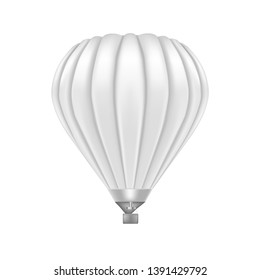 Realistic Detailed 3d White Blank Ballon Empty Template Mockup Travel Concept. illustration of Hot Air Transport