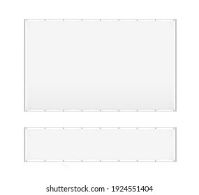 Realistic Detailed 3d White Blank Advertizing Stand Empty Template Mockup Set. illustration of Mock Up Ad