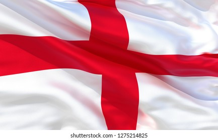 Realistic England waving flag, high quality 3d rendering