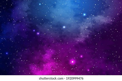 Realistic galaxy background with stars and nebulae