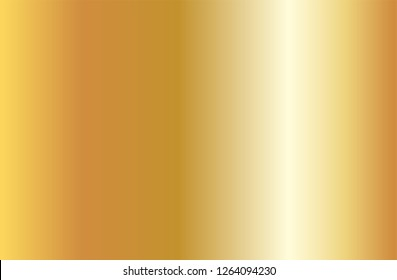 Realistic gold gradient texture. Shiny golden metal foil gradient