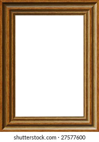 A realistic illustration of a simple wooden frame - very easy to add your own text or picture.