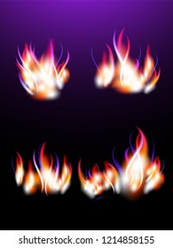 Realistic magic fire for your design.  Lilac color.